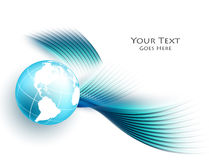 Colorful vector wavy background Stock Photo