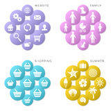 Colorful vector web icons Stock Photography