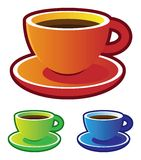 Colorful vectors: coffee cups Stock Image