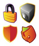 Colorful vectors: finance and security. Vector illustration Royalty Free Stock Image
