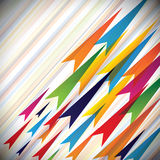 Colorful Vectors Of Fast Moving Arrows And Their P Royalty Free Stock Image