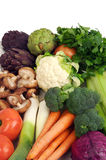 Colorful vegetable. Colorful whole raw organic vegetables royalty free stock images