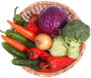 Colorful vegetable arrangement Royalty Free Stock Photo