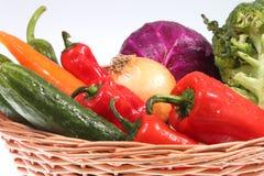 Colorful vegetable arrangement Stock Images