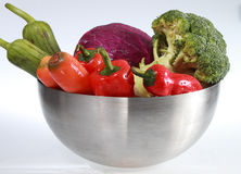 Colorful vegetable arrangement Stock Images