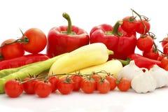 Colorful vegetable arrangement Stock Photography