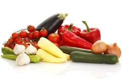 Colorful vegetable arrangement Stock Photo
