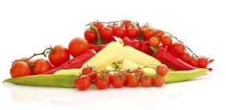 Colorful vegetable arrangement Royalty Free Stock Photos