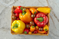Colorful Vegetable Arrangement Royalty Free Stock Images