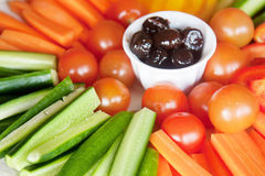 Colorful vegetable background Stock Image
