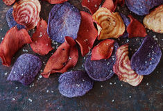 Colorful Vegetable chips Royalty Free Stock Photography