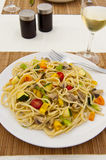 Colorful Vegetable Linguini Stock Photos