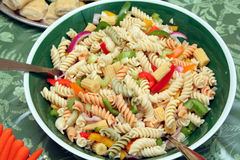 Colorful vegetable pasta salad Stock Photos