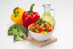 Colorful vegetable salad Stock Photos