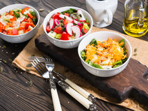 Colorful vegetable salad bowl Royalty Free Stock Photography
