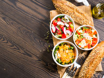 Colorful vegetable salad bowl Stock Images