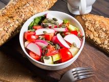 Colorful vegetable salad bowl Stock Photo