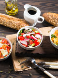 Colorful vegetable salad bowl Royalty Free Stock Photos
