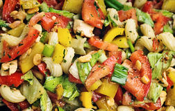 Colorful vegetable salad Royalty Free Stock Photos