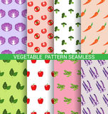 Colorful vegetable seamless pattern Royalty Free Stock Photos
