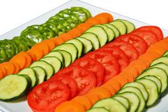 Colorful vegetable slices Stock Image