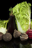 Colorful vegetable still life. stock photos