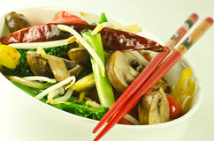 Colorful vegetable stirfry Stock Photo