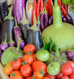 Colorful vegetable in wooden box Stock Photography
