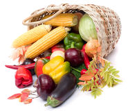 Colorful vegetables in basket Stock Image