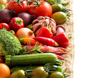 Colorful vegetables border Stock Images