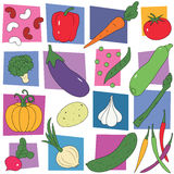 Colorful vegetables collection background Stock Images