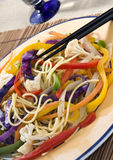 Colorful vegetables dish stock photography