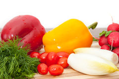 Colorful vegetables stock photo