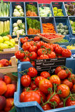 Colorful vegetables at greengrocer Stock Photo