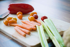 Colorful vegetables in modern kitchen interior Royalty Free Stock Photography