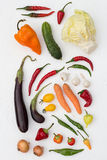 Colorful Vegetables. On a White Background Stock Photo