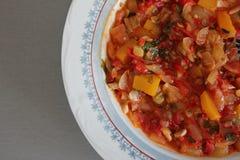 Colorful vegetarian dish Stock Images