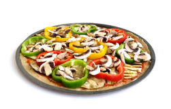 A colorful vegetarian pizza Stock Photography