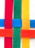 Colorful velcro strips braided Stock Photography