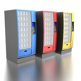 Colorful vending machines Royalty Free Stock Image