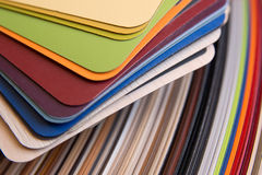 Colorful veneer samples for plywood Stock Image