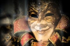 Colorful Venetian carnival mask Stock Photo