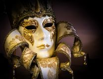Colorful Venetian carnival mask Stock Photos