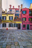 Colorful Venetian Houses Stock Photo