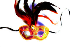 Colorful venetian mask on white background Stock Photography