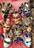Colorful Venetian Masks on Display Stock Images