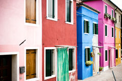 Colorful venice. Colorful houses in Burano Venice Italy Royalty Free Stock Photo