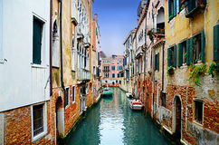 Colorful venice canal Royalty Free Stock Photo
