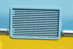 Colorful ventilation. Slits on an camping caravan Stock Photos