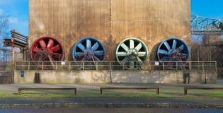 Colorful ventilators Stock Images